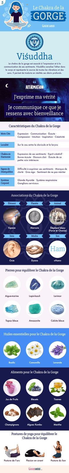 Goodie mood - IntroductionAn introduction to the chakras: The meaning of the Throat Chakra. On Goodie Mood the bl - Reiki Chakra, Chakra Meditation, Yoga Inspiration, Les Chakras, Ayurveda Yoga, Yoga Books, Miracle Morning, Throat Chakra, Qigong