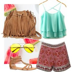 Tropical by dascalubella on Polyvore featuring polyvore fashion style Glamorous maurices Rebecca Minkoff