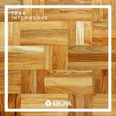 KROYA Teak Interweave Hardwood Floors, Flooring, Wood Species, Teak, Closer, Tropical, Home, Wood Floor Tiles, Wood Flooring