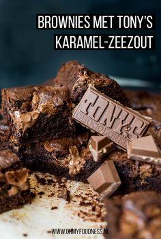 Brownies met Tony's Karamel-Zeezout Dutch Recipes, Sweet Recipes, Cake Recipes, Pasta Recipes, Baking Bad, Salted Caramel Brownies, Blondie Brownies, Sweet Bakery, Sweet Pie