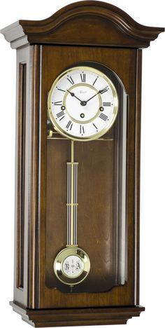 Hermle Brooke Mechanical Regulator Wall Clock - Walnut Finish