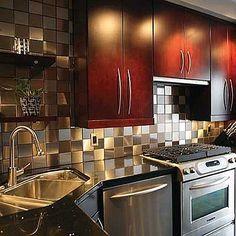 cocinas pequeas cocina marron moderna