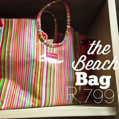 Large and small. Beach Bags, Stripe Print, Cosmetic Bag, Diaper Bag, Candy, Handbags, Embroidery, Lifestyle, Totes
