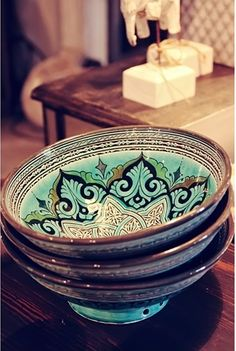 Russian pottery bowls