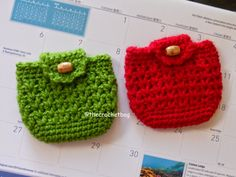 Little coin purse. Free pattern                                                                                                                                                                                 More