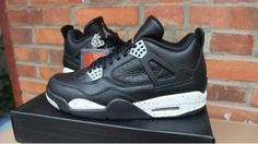 Air Jordan 4 New Oreo Mens Basketball Shoes