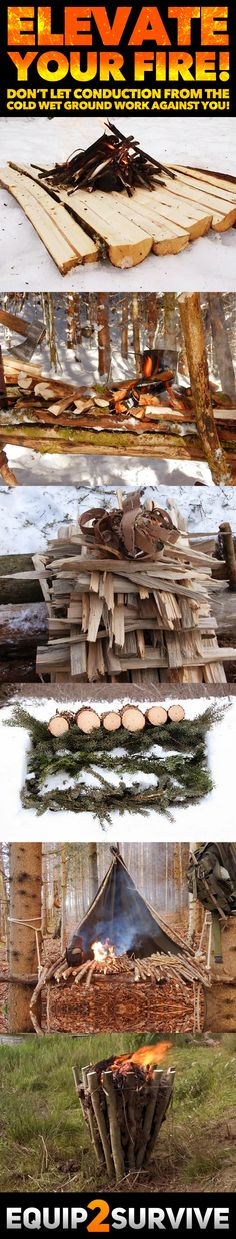 How To Build A Campfire With Wet Wood Using Only Natural Materials! (Bushcraft S… How To Build A Campfire With Wet Wood Using Only Natural Materials! Bushcraft Skills, Bushcraft Camping, Camping Survival, Outdoor Survival, Camping Meals, Winter Survival, Survival Stuff, Survival Food, Survival Kit