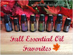 My Fall Essential Oil Must Haves www.fireflyfieldsliving.com