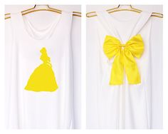 Belle Beauty and the beast Disney Princess Tank by DollysBow. It comes in gray with black, so I'm good =P