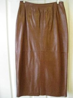 Vintage Classic Tan Leather Skirt.