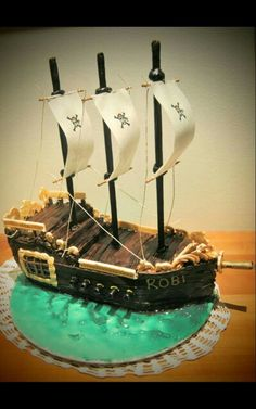 Torta galeone dei pirati