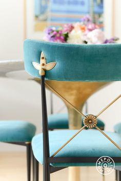Teal vintage chair.