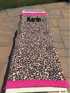 Large Beach Towel - Cheetah Print with Hot Pink borders - Monogrammed - Personalized by CACBaskets on Etsy Large Beach Towels, Oversized Beach Towels, Cheetah Print, Animal Print Rug, Times Font, Block Fonts, Sewing Studio, Font Styles, Monogram Letters