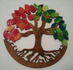 Decoupage, Birthday Cake, Symbols, Painted Trees, Pintura, Painted Wood, Pies, Blue Prints, Life