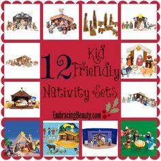 12 Kid Friendly Nativity Sets