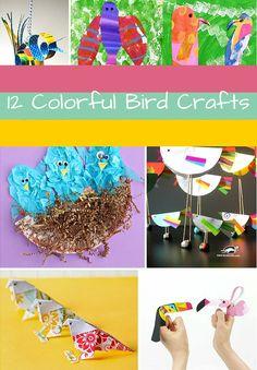 12 Colorful Bird Crafts!