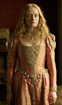 Anne-Marie Duff as Elizabeth I, (Recycled Movie Costumes)