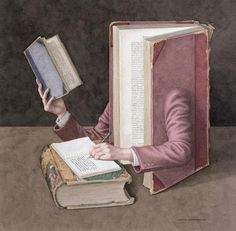 Jonathan Wolstenholme is a British artist and illustrator best known for his amazingly detailed works deriving from a love of old books. Books on Books is a series John Cheever, Book Art, Book Show, Sign Printing, Library Books, Book Of Life, I Love Books, Illustration, Online Art