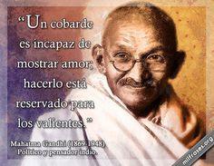 Mahatma Gandhi, político y pensador indio.