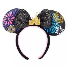 Minnie Mouse: The Main Attraction Ear Headband for Adults – Nighttime Fireworks & Castle Finale – Limited Release | shopDisney