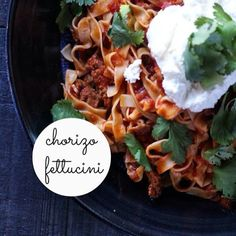 """Chorizo + ricotta + cilantro - Kathy and Canadian Cheese, Milk And Cheese, How To Make Cheese, Simple Pleasures, Cheese Recipes, Chorizo, Dinner Tonight, Cilantro, Ricotta"