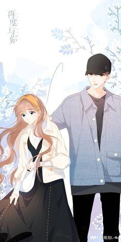 再度与你 - Again with You Anime Love Story, Anime Love Couple, Manga Love, Manga Anime Girl, Anime Neko, Anime Couples Drawings, Anime Couples Manga, Romantic Anime Couples, Cute Anime Coupes