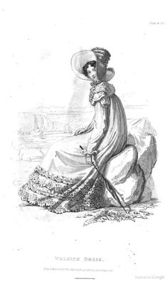 Walking Dress from Ackermann's Repository of the Arts July 1818