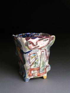 Kevin Snipes   Genius, 2012. Porcelain, glazes, undergllazes, oxide wash