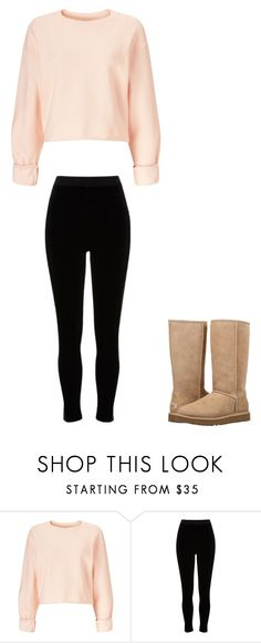 """school"" by ottoca on Polyvore featuring Miss Selfridge, River Island and UGG"