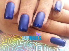 Uñas Acrílicas con esmalte mate punta brillante 💅(Acrylic nails with bright nail tip matt)💅 🚺https://www.facebook.com/topnails.acrilicas 🇨🇱www.topnails.cl ☎94243426, saludos Beatriz