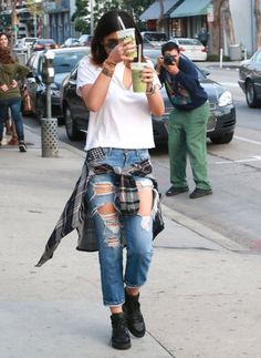 kyliejennerfashionstyle:  February 9, 2014 - Kylie Jenner leaving Urth Caffe in West Hollywood.
