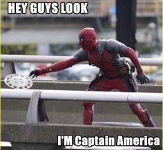 That's captain deadpool. No just deadpool Marvel Vs, Marvel Memes, Marvel Dc Comics, Marvel Funny, Deadpool Funny, Deadpool And Spiderman, Deadpool Stuff, Deadpool Movie, Deadpool Costume