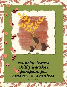 Digital greeting card created with For All Things stamp brush set and Color Me Fall digital designer series paper - Check out my blog post for more details on this card. http://www.soggystamper.com/2014/09/fall-digital-things
