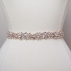 A personal favorite from my Etsy shop https://www.etsy.com/listing/265081900/full-length-rose-gold-rhinestone-bridal