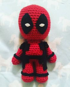 Finally done with this guy. I need 2 mini Katanas now. #crochet #amigurumi #sillycrochet #deadpool #mercwithamouth #crochetersofinstagram #handmade by sillya85