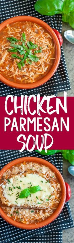 Chicken Parmesan Soup: aka what happens when your chicken parm wants to go for…