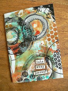 Von Pappe II: Stampendous and DecoArt Blog Hop - Day 1. #mixedmedia