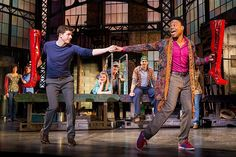 "Kinky Boots Stark Sands (left), Billy Porter (right), and Annaleigh Ashford (center) in ""Kinky Boots"". #broadway #TonyAwards #spotlight"