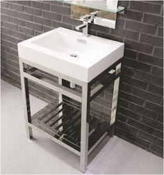 "24 Inch Cisco Stainless Steel Vanity - The Vanity Store Canada - 24"" - 1"