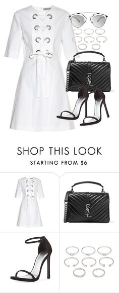"""""""Untitled #19600"""" by florencia95 ❤ liked on Polyvore featuring Sportmax, Yves Saint Laurent, Stuart Weitzman, Forever 21, Christian Dior, women's clothing, women, female, woman and misses"""