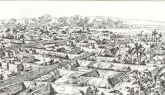 Drawing of Benin City made by an English officer 1897 - Benin Bronzes - Wikipedia