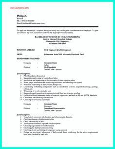 1000 ideas about good resume format on pinterest