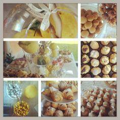 Breakfast for wedding in yellow www.chantillyweb.eu