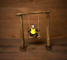 This miniature swing (dollhouse scale 1:12)