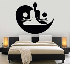 Vinyl Wall Decal Yin Yang Yoga Zen Meditation Bedroom Decor Stickers Mural (120ig) #ZenMeditation