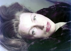 Greta Garbo at 46, in her first color photo session (1951, photo by Anthony Beauchamp)