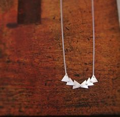 follow necklace in sterling silver articulated triangles // #RandPapeleJewelry