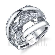 ELMA*GIL 18KWG Diamond Fashion Ring DR-415