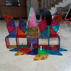 The long awaited #magnatiles is finally here! ❤ and this is our (ermm..more like mom's ) 1st creation  big thanks to @foxybooger