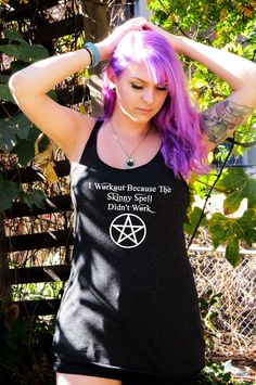 I Workout Because The Skinny Spell Didn't Work (Women's) Triblend Racerback Tank Top